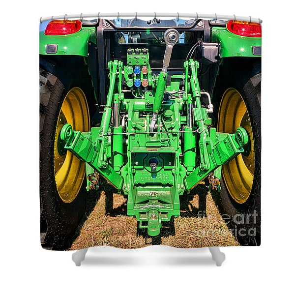 Hitch A Deere  Shower Curtain