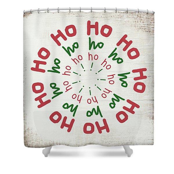 Ho Ho Ho Wreath- Art By Linda Woods Shower Curtain