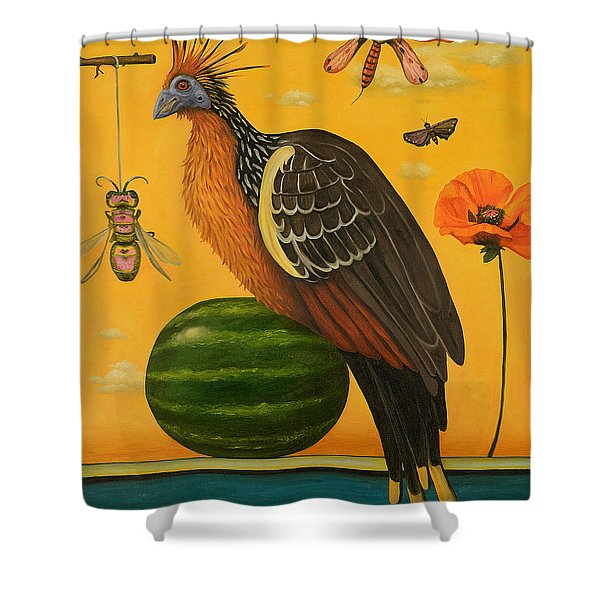 Hoatzin 2 Shower Curtain