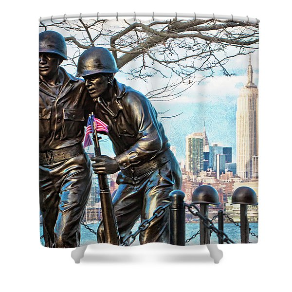 Hoboken War Memorial Shower Curtain