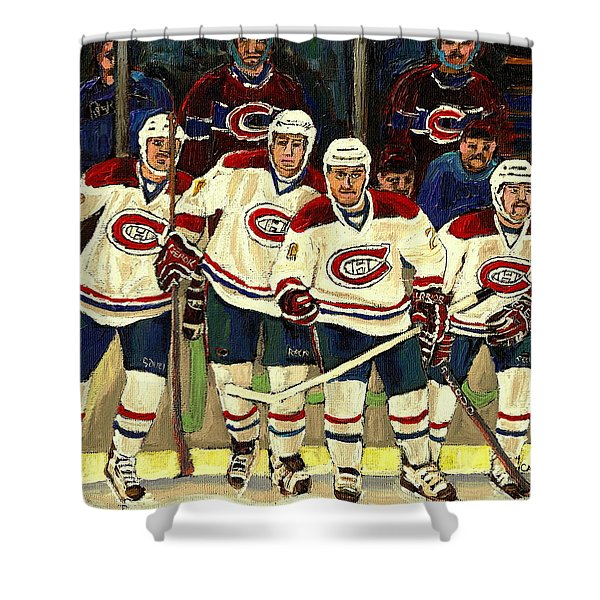 Hockey Art The Habs Fab Four Shower Curtain