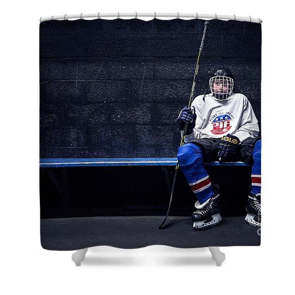 Hockey Strong Shower Curtain