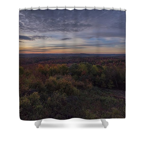 Shower Curtain featuring the photograph Hogback Morning by Tom Singleton