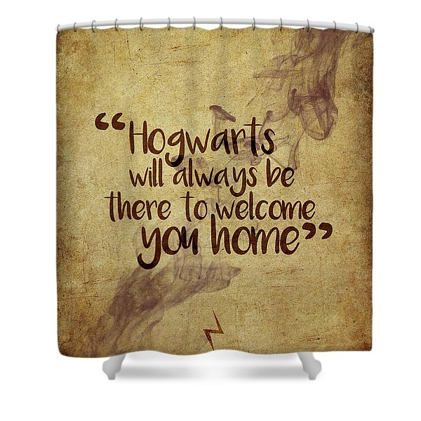 Hogwarts Is Home Shower Curtain