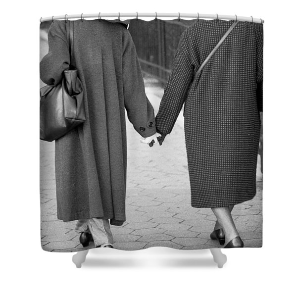 Holding Hands Friends Shower Curtain