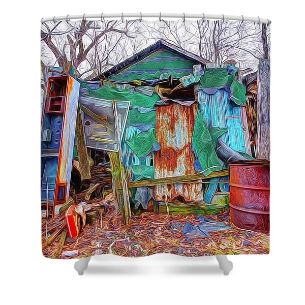 Holding On To Reality Shower Curtain