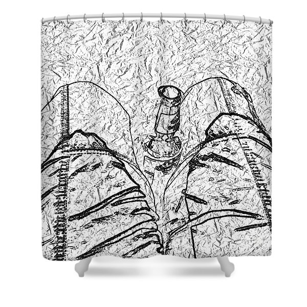 Holding The Beer Shower Curtain