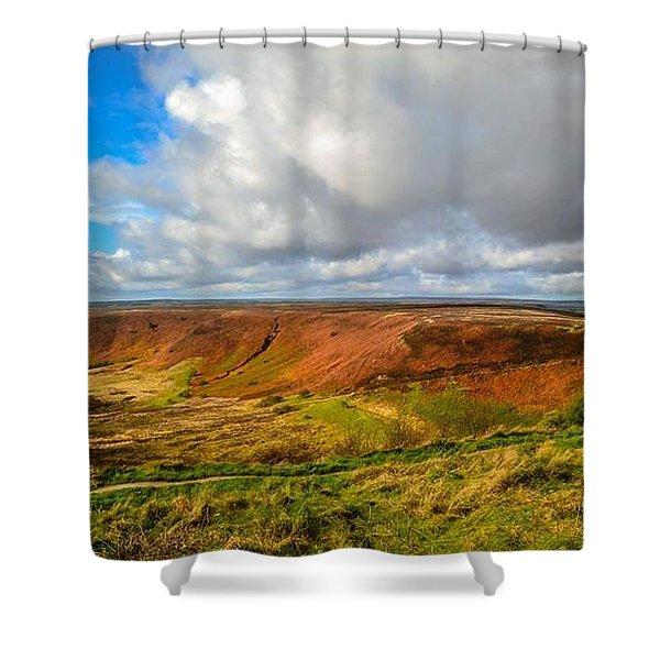 Hole Of Horcum, North York Mores, Yorkshire, United Kingdom Shower Curtain