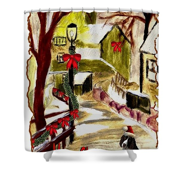 Holiday Card 02 Shower Curtain