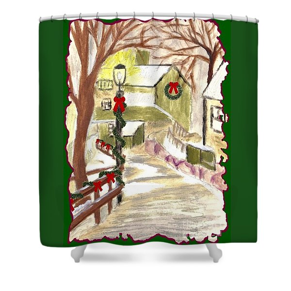 Holiday Card 03 Shower Curtain