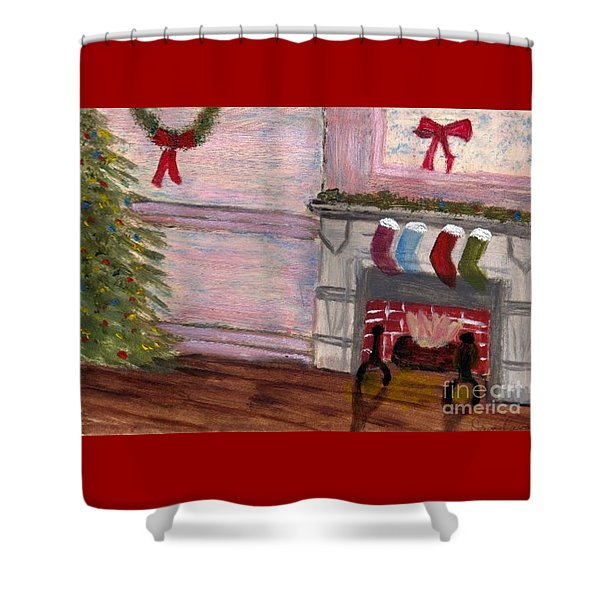Holiday Card 04 Shower Curtain