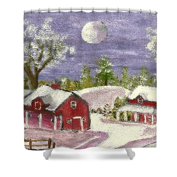 Holiday Card 06 Shower Curtain