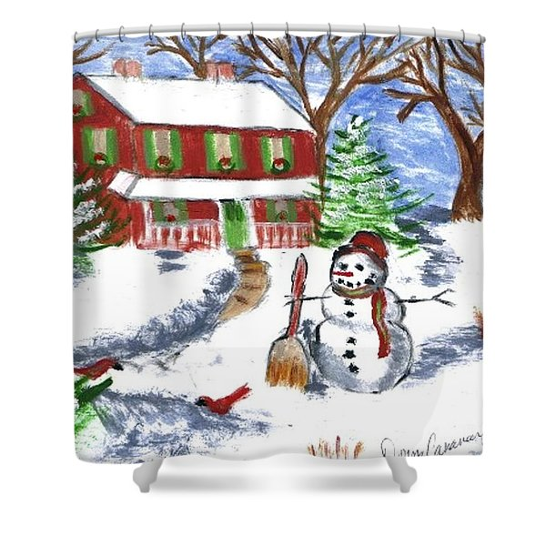 Holiday Card 07 Shower Curtain