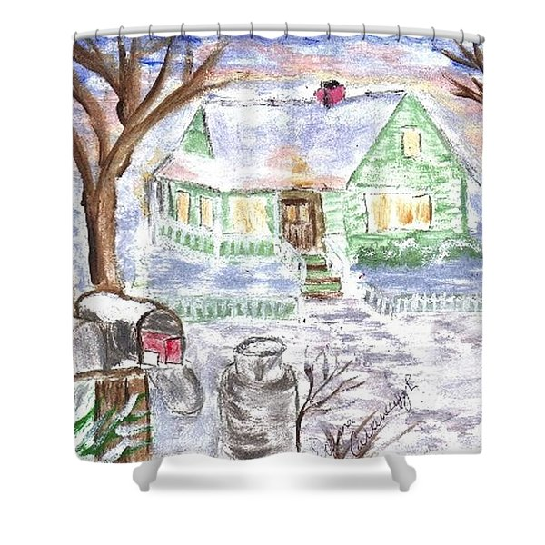 Holiday Card 08 Shower Curtain