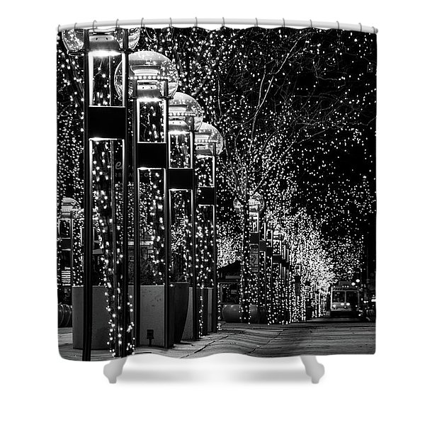 Holiday Lights - 16th Street Mall Shower Curtain