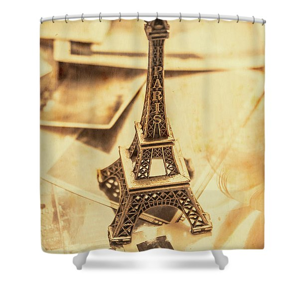 Holiday Nostalgia In Vintage France Shower Curtain