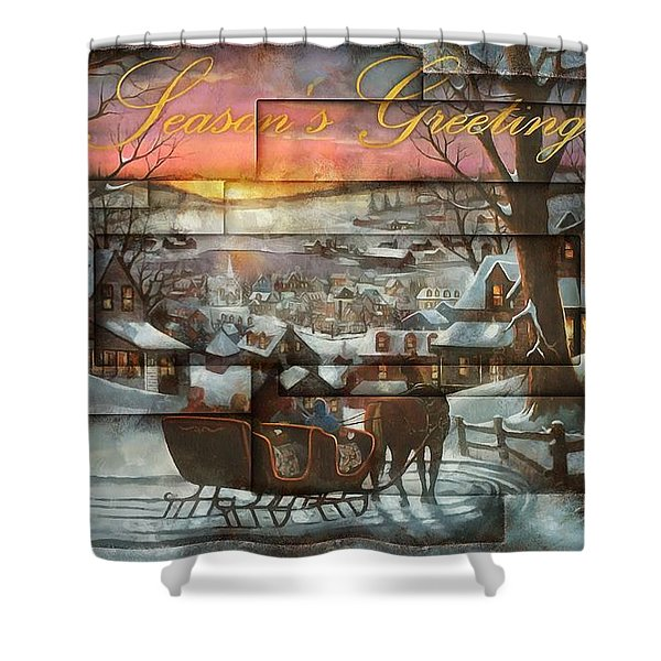 Holiday Sleighride Shower Curtain