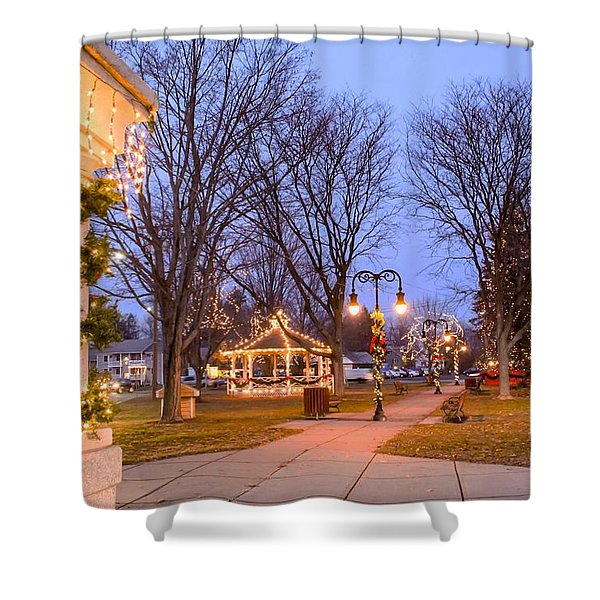 Shower Curtain featuring the photograph Holiday Spirit by Sven Kielhorn
