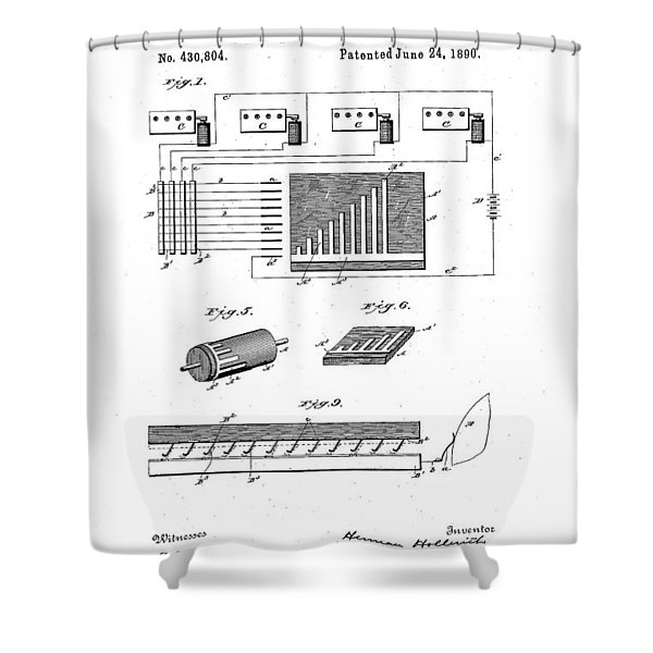 Hollerith Electrical Calculating Device - 1890 Shower Curtain