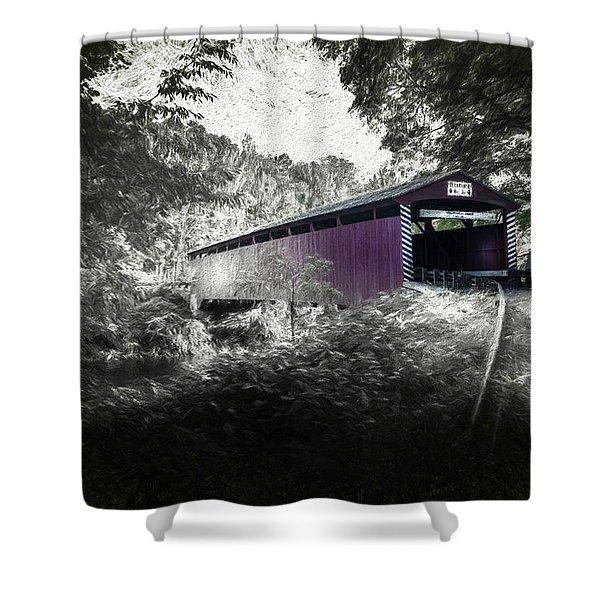 Hollingshead Bridge Shower Curtain