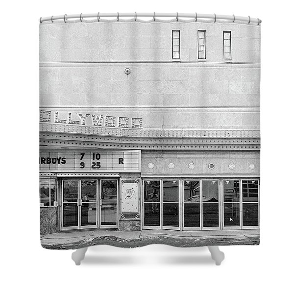 Hollywood Theater Marquee Shower Curtain
