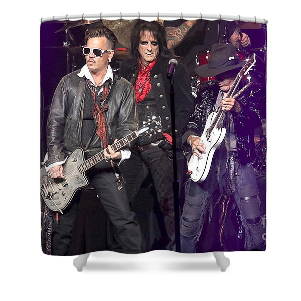 Hollywood Vampires Depp Cooper Perry Shower Curtain