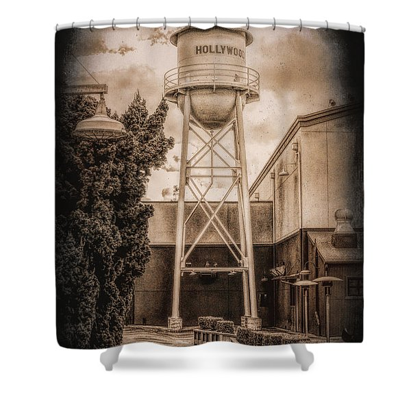 Hollywood Water Tower 2 Shower Curtain