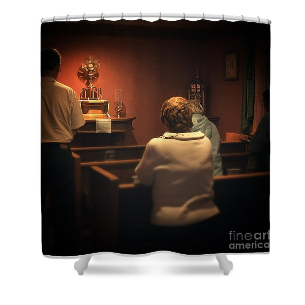 Holy Adoration Altar Shower Curtain