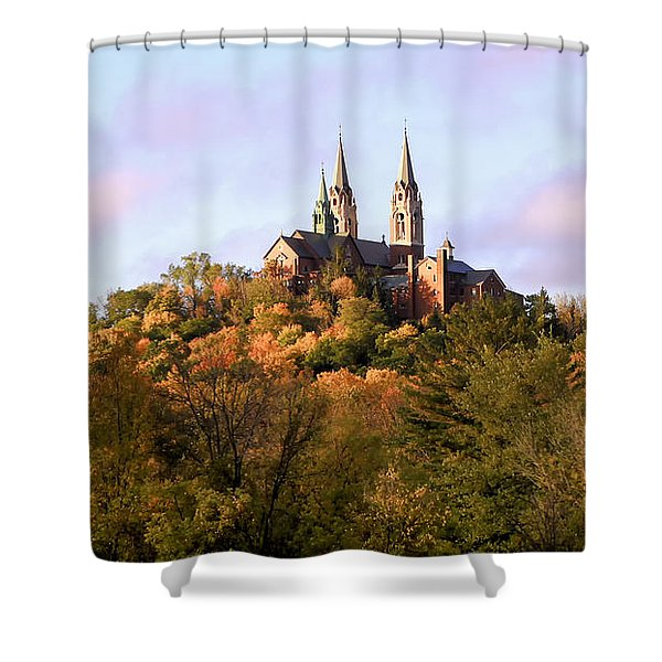 Holy Hill Basilica, National Shrine Of Mary Shower Curtain