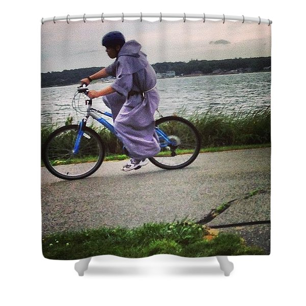 Holy Man Going For A Spin  Shower Curtain