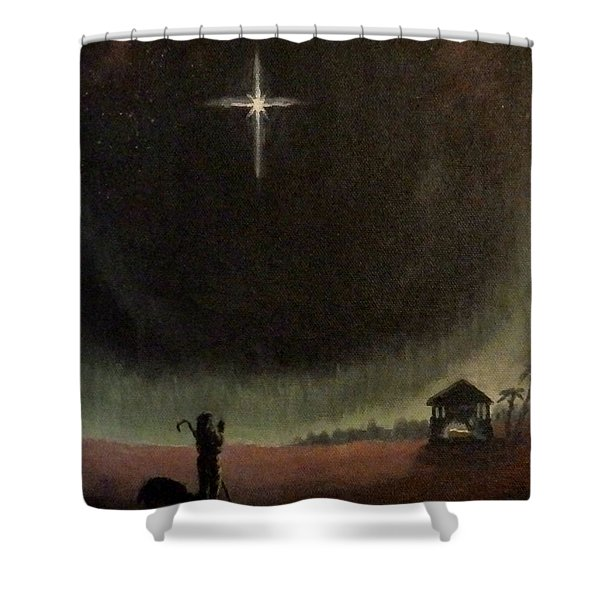 Holy Night Shower Curtain