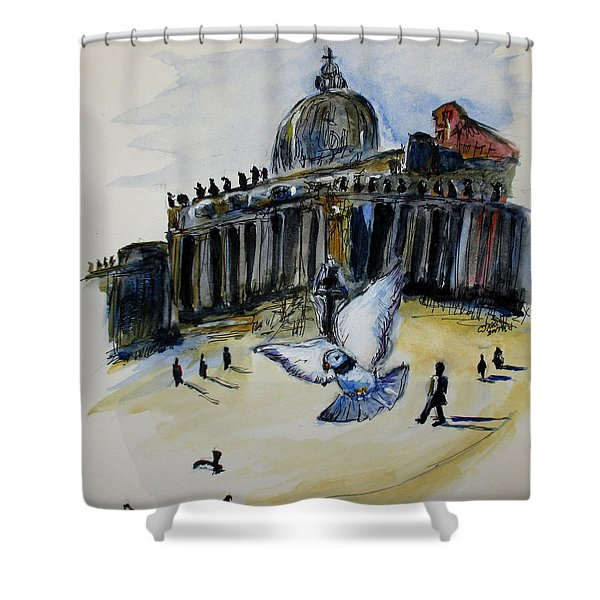 Holy Pigeons Shower Curtain