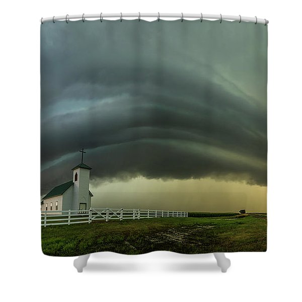 Holy Supercell  Shower Curtain