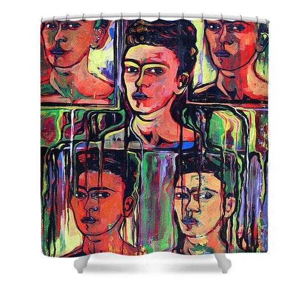Homage To Frida Kahlo Shower Curtain