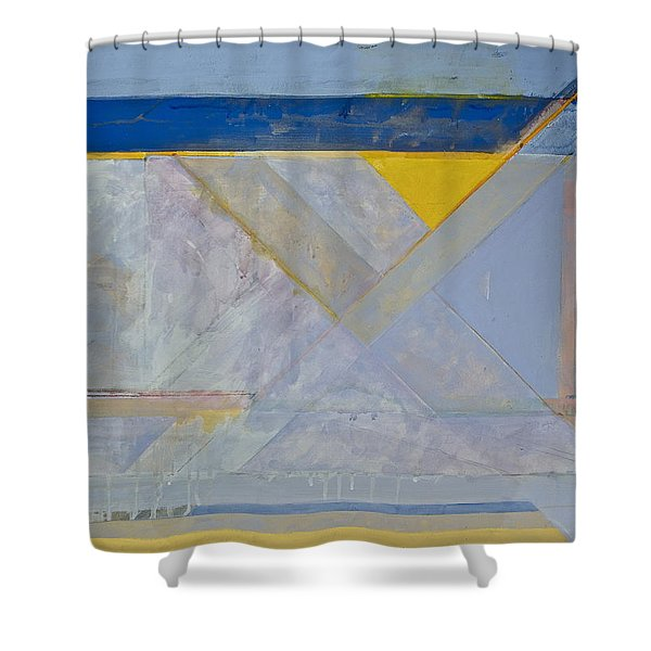 Shower Curtain featuring the painting Homage To Richard Diebenkorn's Ocean Park Series  by Cliff Spohn