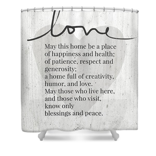 Home Blessing Rustic- Art By Linda Woods Shower Curtain