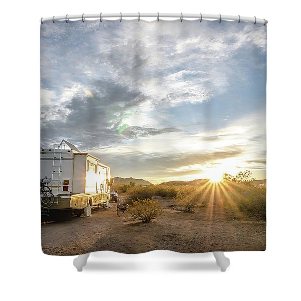 Home In The Desert Shower Curtain