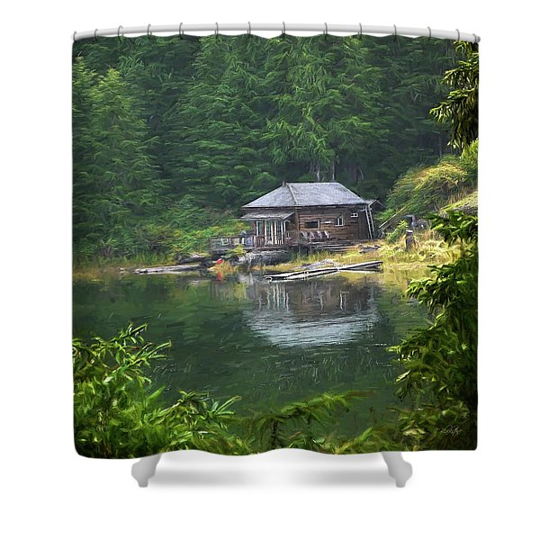 Home Is Where Shower Curtain