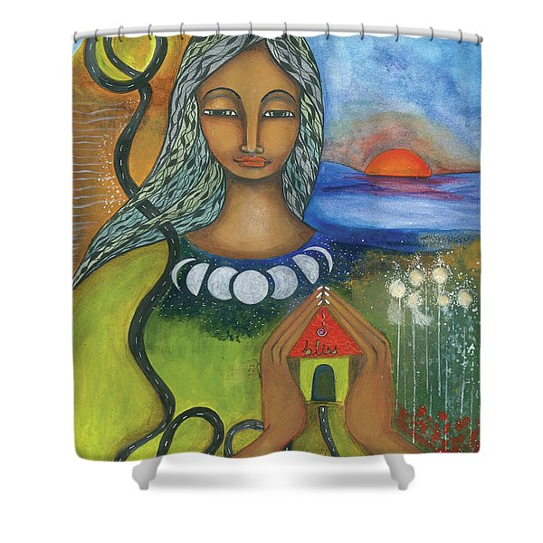 Home Is Where Your Heart Is Shower Curtain