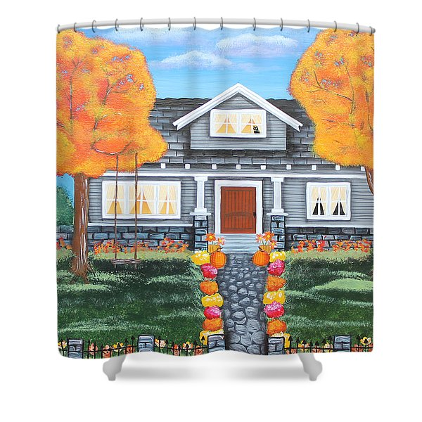 Home Sweet Home - Comes Autumn Shower Curtain
