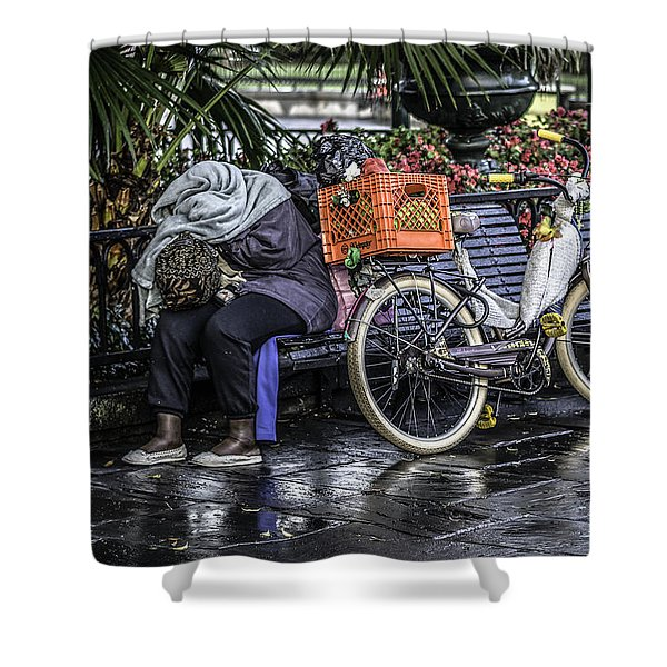 Homeless In New Orleans, Louisiana Shower Curtain