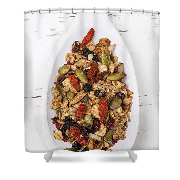 Homemade Granola In Spoon Shower Curtain