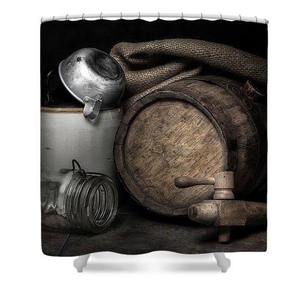 Homemade Whiskey Shower Curtain