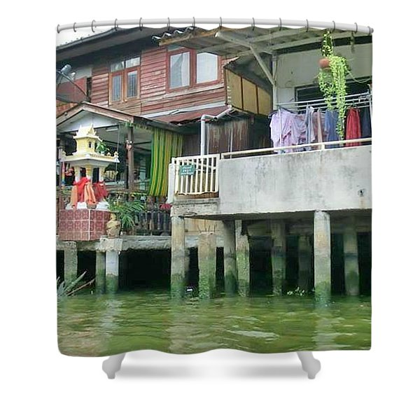 Homes On The Water Shower Curtain