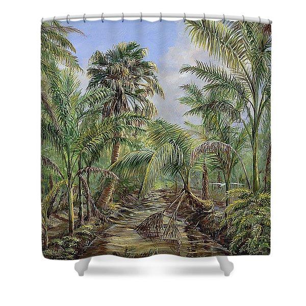 Homestead Tree Farm Shower Curtain