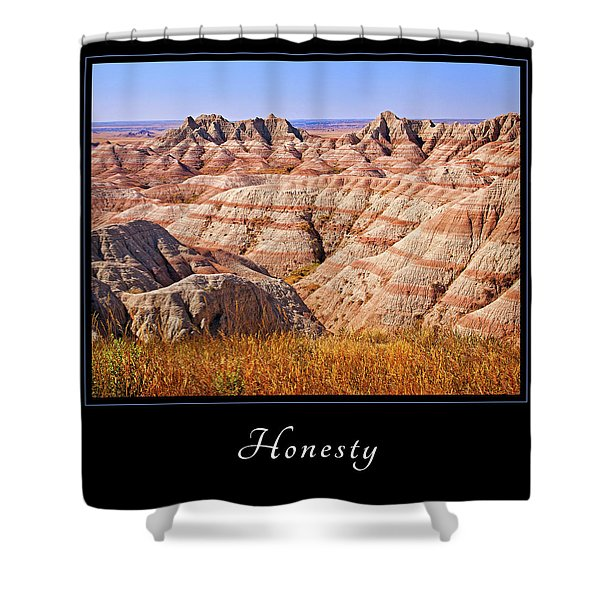 Shower Curtain featuring the photograph Honesty 1 by Mary Jo Allen