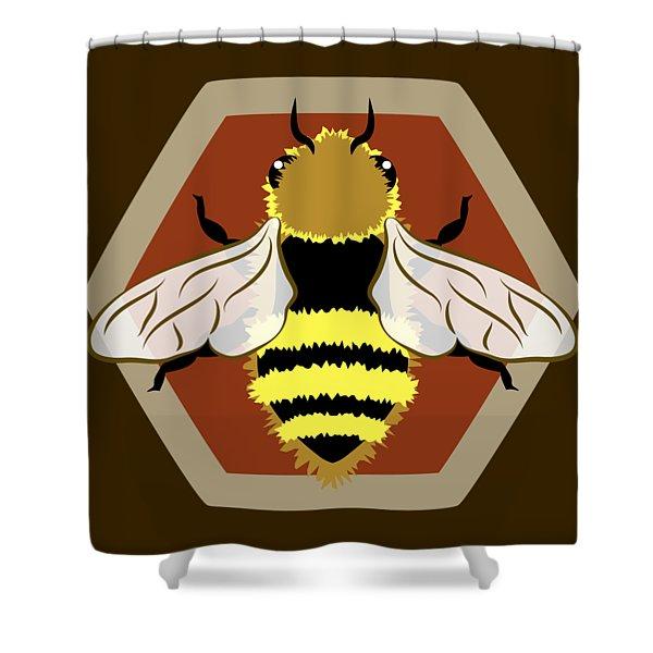 Honey Bee Graphic Shower Curtain