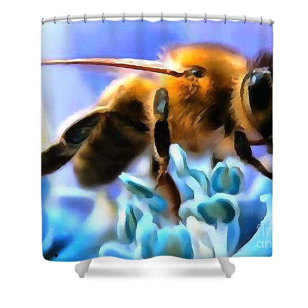 Honey Bee In Interior Design Thick Paint Shower Curtain