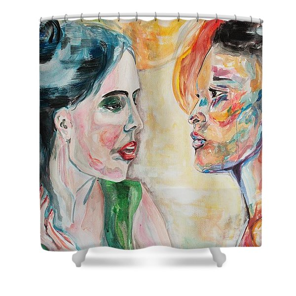 Honey It Is In His Kiss Shower Curtain
