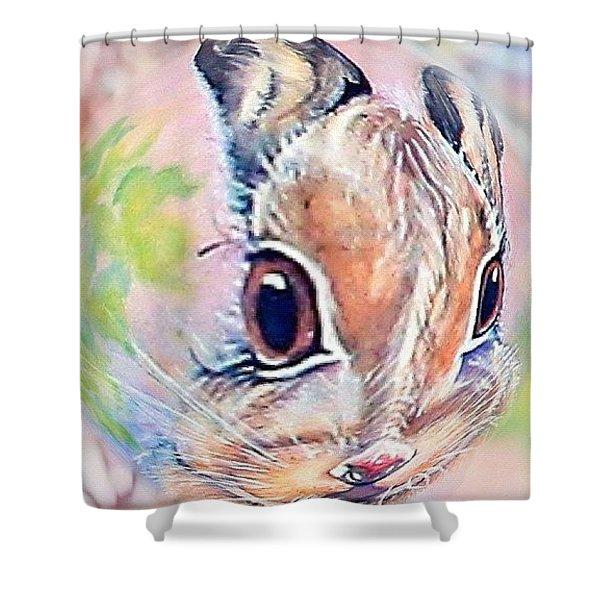 Honey Of A Bunny Shower Curtain